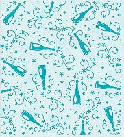 Leane Creatif - LeaCrea Design Embossing Folder - Background Champagne Bottles (6