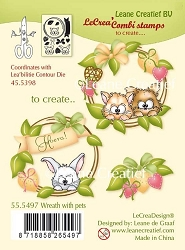 Leane Creatif - Lea'bilities Clear Stamp - Wreath with Pets