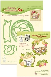 Leane Creatif - Lea'bilities Die & Clear Stamp set - Wreath with Pets