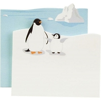 Little B - Decorative Paper Note Pad - Penguins