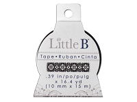 Little B - Decorative Paper Tape - Lace Black (10mm width)