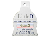 Little B - Decorative Paper Tape - Paris (15mm width)