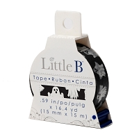 Little B - Decorative Paper Tape - Ghosts (15mm width)