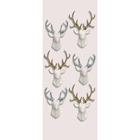 Little B - 3D Mini Stickers - White Stags