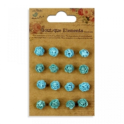 Little Birdie - Paper Flowers - Micro Roses Blue