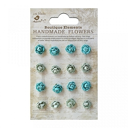 Little Birdie - Paper Flowers - Micro Roses Pacific Blue