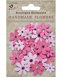 Little Birdie - Paper Flowers - Sparkle Florettes Strawberry