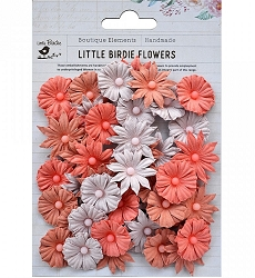 Little Birdie - Paper Flowers - Valerie Peach & Cream
