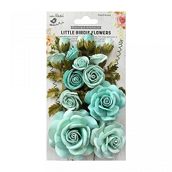Little Birdie - Paper Flowers - Rosalind Arctic Ice