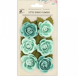 Little Birdie - Paper Flowers - Sharon Roses Arctic Ice