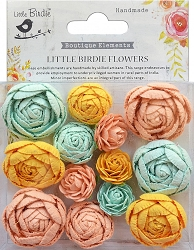 Little Birdie - Paper Flowers - English Roses Pastel