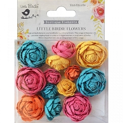 Little Birdie - Paper Flowers - English Roses Vivid