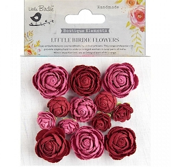 Little Birdie - Paper Flowers - English Roses Candy mix