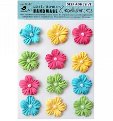 Little Birdie - Paper Flowers - Jewelled Daisies Candy Crush