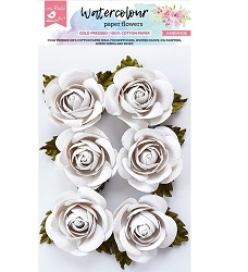 Little Birdie - Paper Flowers - Sharon Roses Watercolor White