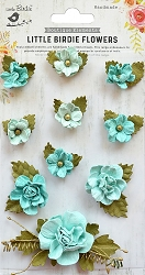 Little Birdie - Paper Flowers - Adelina Arctic Ice