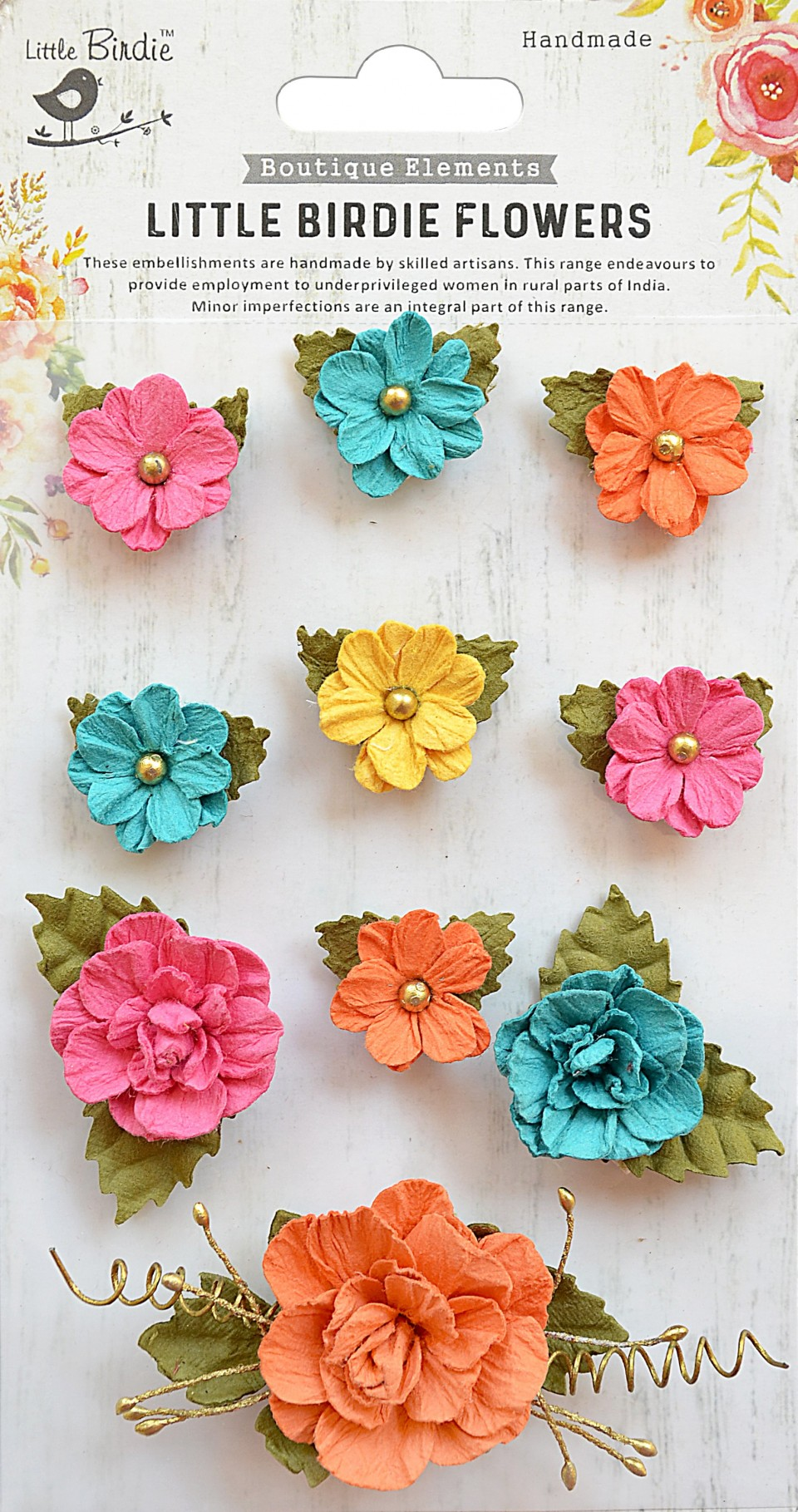 Little Birdie Paper Flowers Adelina Vivid