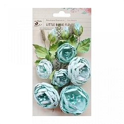 Little Birdie - Paper Flowers - Natasha Arctic Ice