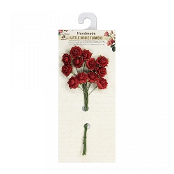 Little Birdie - Paper Flowers - Curly Rose Red