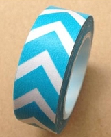 Love My Tapes - Washi Tape - Teal Bold Chevron