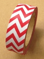 Love My Tapes - Washi Tape - Red Chevron