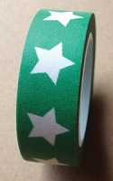 Love My Tapes - Washi Tape - Stars with Green Background