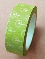 Love My Tapes - Washi Tape - Green Dandelion Blooms