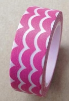 Love My Tapes - Washi Tape - Pink Scallop