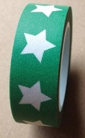 Love My Tapes - Washi Tape - Green w/ Bold Stars