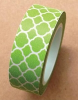 Love My Tapes - Washi Tape - Green Moroccan Tile