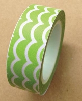 Love My Tapes - Washi Tape - Green Scallop