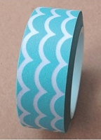 Love My Tapes - Washi Tape - Aqua Scallop
