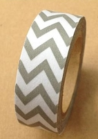 Love My Tapes - Washi Tape - Gray Chevron