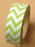 Love My Tapes - Washi Tape - Lime Chevron