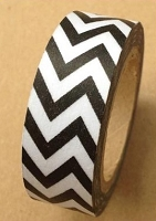 Love My Tapes - Washi Tape - Black Chevron