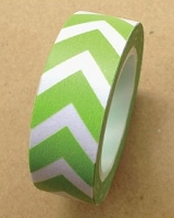 Love My Tapes - Washi Tape - Green Bold Chevron