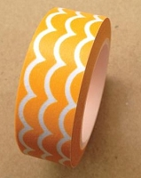 Love My Tapes - Washi Tape - Mustard Scallop