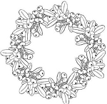 Magenta Cling Stamp - Merry Mistletoe Wreath