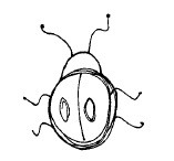 Magenta - Cling Rubber Stamp - Little Lady Bug