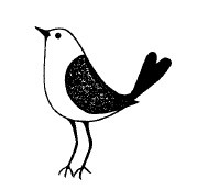 Magenta - Cling Rubber Stamp - Petite Bird