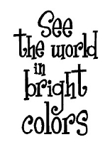Magenta - Cling Rubber Stamp - See the World in Bright Colors