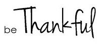 Magenta - Cling Rubber Stamp - Be Thankful