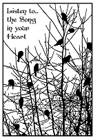 Magenta - Cling Rubber Stamp - Bird Song