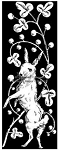 Magenta Cling Stamp - Rabbit Standing Up In Flower