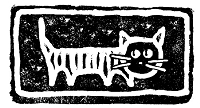Magenta - Cling Rubber Stamp - Cat Carving