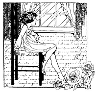 Magenta - Cling Rubber Stamp - Window Girl