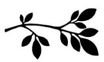 Magenta-Cling Stamp-Small Branch