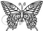 Magenta-Cling Stamp-Butterfly