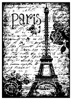 Magenta - Cling Rubber Stamp - Paris Eiffel Tower