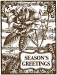 Magenta-Cling Stamp-Season's Greetings Flora